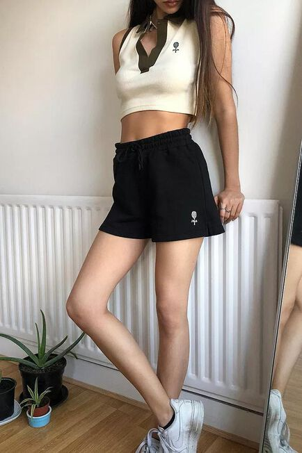 Urban Outfitters - Black Fila UO Exclusive Black Tennis Shorts