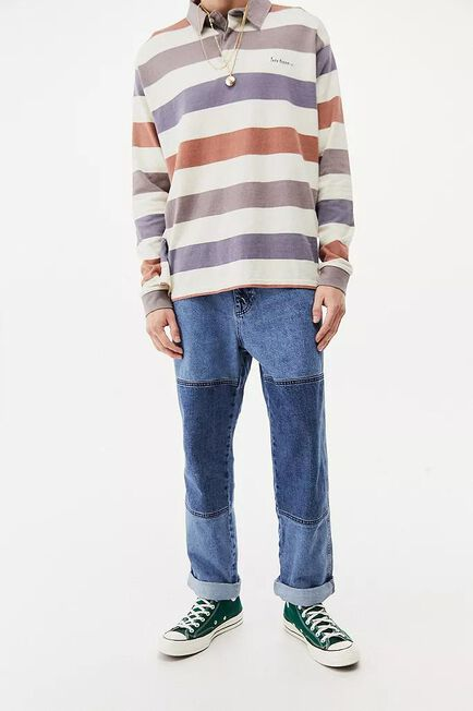 Urban Outfitters - Blue BDG Blue Panel Louis Skate Jeans
