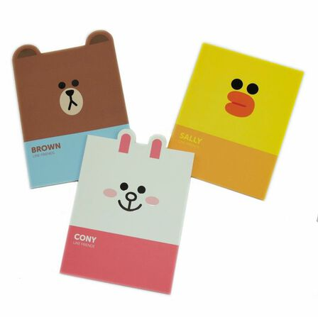 BLUEPRINT COLLECTIONS - Line Friends Notebooks [Set of 3]
