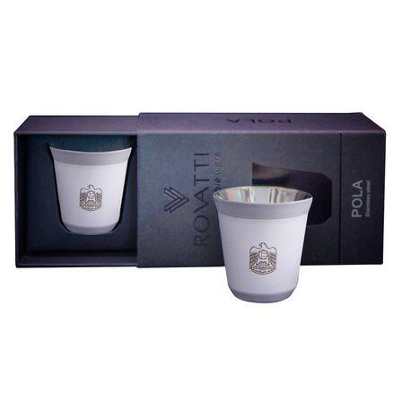 ROVATTI - Rovatti Pola Uae Stainless Steel Cup White 85ml