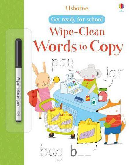 USBORNE PUBLISHING LTD UK - Wipe-Clean Words to Copy