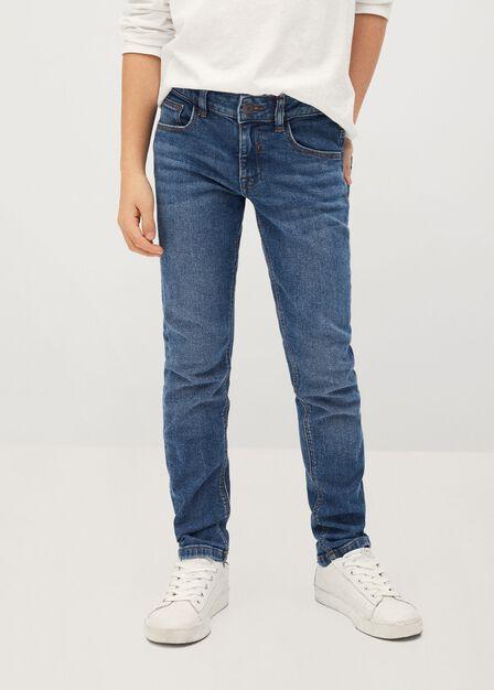 Mango - open blue Slim-fit jeans
