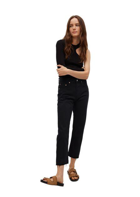 Mango - Open Grey Ankle-Length Straight-Fit Jeans, Women