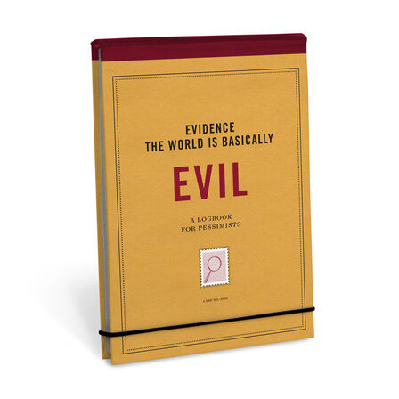 KNOCK KNOCK - Knock Knock Evidence Journal Evidence The World Is Basically Evil Notebook