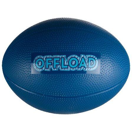 OFFLOAD - 0  Mini R100 Recreational PVC Rugby Ball, Petrol Blue