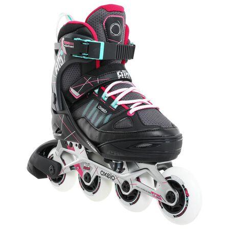 OXELO - EU 35-38  Fit 5 Kids' Inline Fitness Skates, Pebble Grey