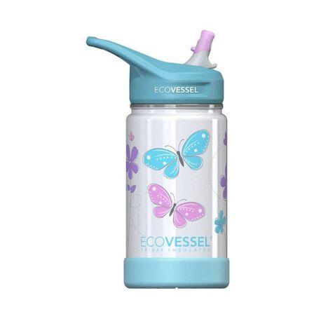 ECO VESSEL - EcoVessel Butterfly Frost Triple Insulated Water Bottle 350 ml