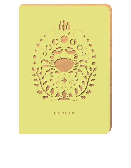 PORTICO DESIGN LTD - Portico Design Cancer Zodiac Yellow A6 Notebook
