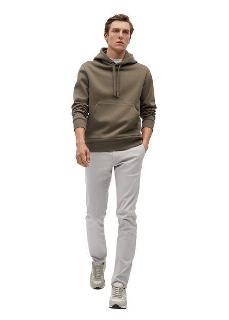 Mango - grey Slim fit serge chino trousers