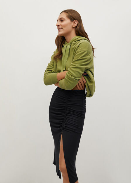 Mango - black Draped pencil skirt