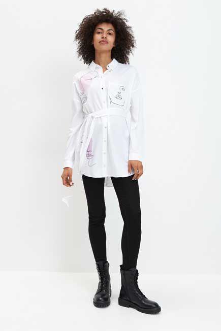Mohito -  Viscose Shirt Eco Aware - White
