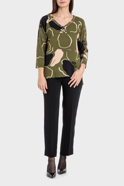 Punt Roma - Khaki printed blouse