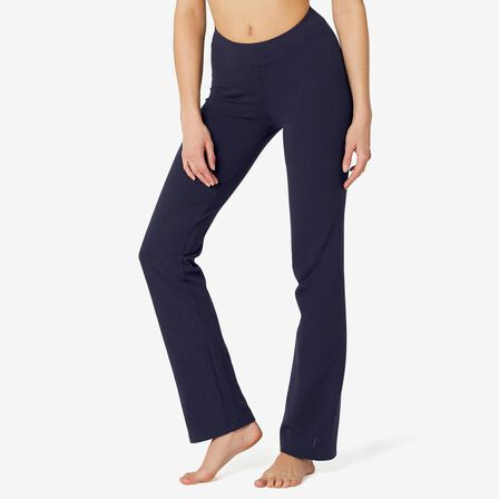 NYAMBA - W35 L31  FIT+ 500 Women's Regular-Fit Stretching Leggings, Navy Blue