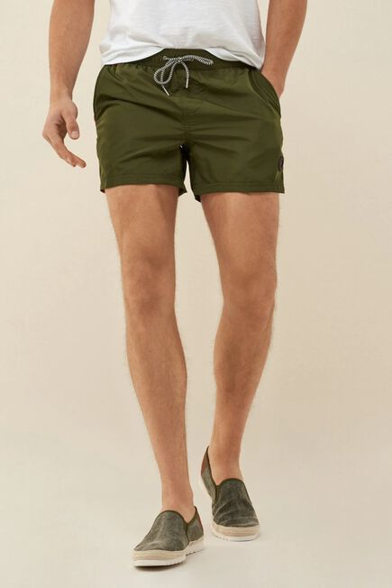 Salsa Jeans - Green Swimming shorts with side band
