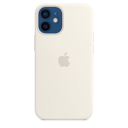 APPLE - Apple Silicone Case White with MagSafe for iPhone 12 Mini