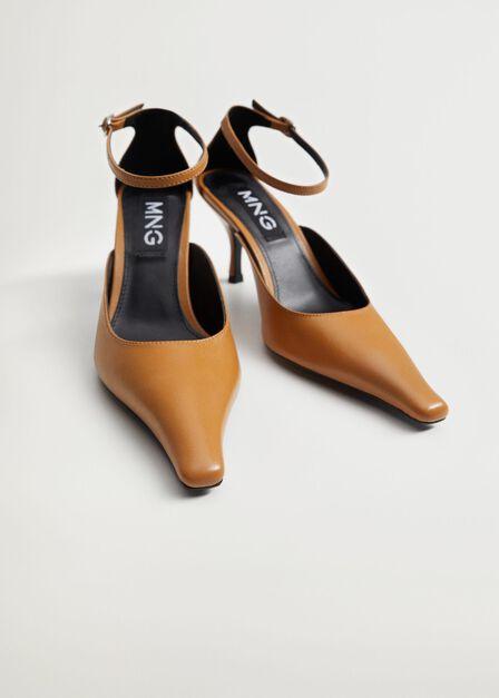 Mango - Medium Brown Heel Leather Shoes
