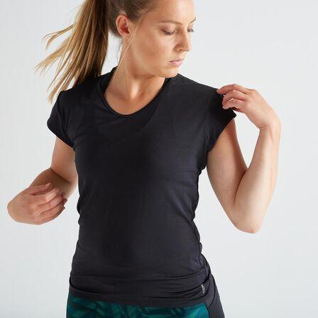 DOMYOS - M/L  Slim Fitness T-Shirt, Black