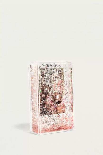 Urban Outfitters - GOLD Pink Instax Mini Heart Glitter Picture Frame