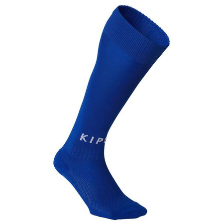 KIPSTA - EU 35-38  Kids' Football Socks F100, Bright Indigo
