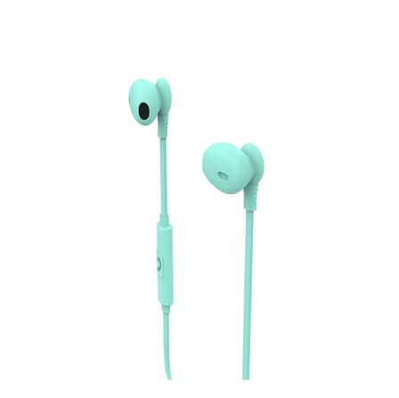 MUVIT - Muvit M1C 3.5mm Rubber Finish Turquoise In-Ear Earphones with Mic