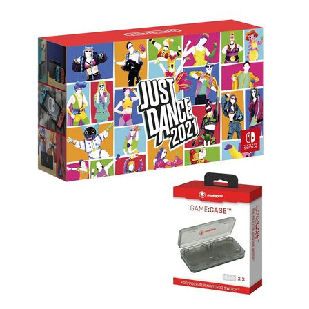 NINTENDO - Nintendo Switch Neon Joy-Con + Just Dance 2021 + Snakebyte Game Case [Bundle]