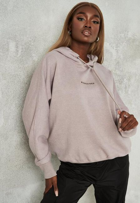 Missguided - Camel Sand Missguided Brushed Back Extreme Oversized Hoodie