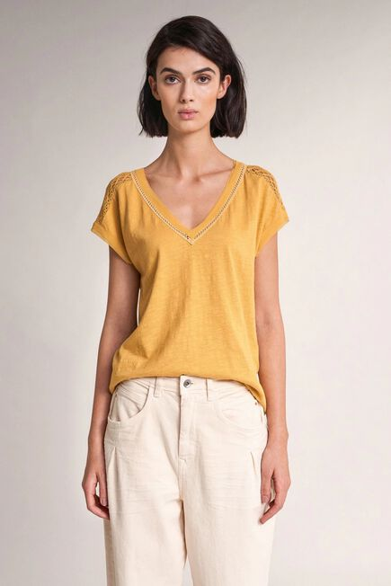 Salsa Jeans - Yellow Top with lace