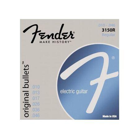 FENDER - Fender 3150XL Pure Nickel Bullet End Electric Guitar Strings 10-46
