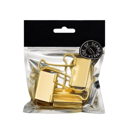 BNT STATIONERY - BNT 41mm Edge Paper Binder Gold [3 Pack]