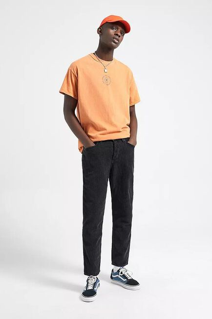 Urban Outfitters - Black BDG Black Acid Corduroy Dad Trousers