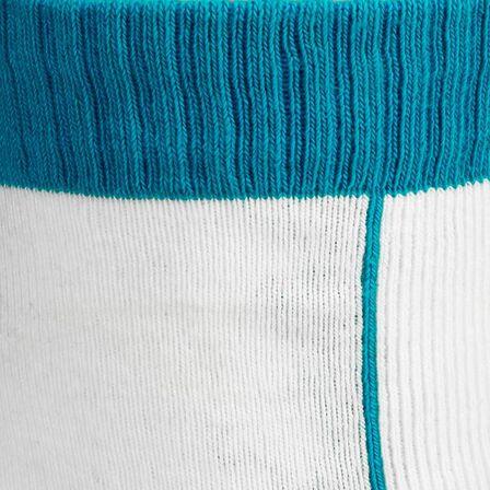 OXELO - Play kids' inline skating socks - blue/white