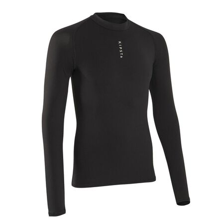 KIPSTA - Extra Large  Men's Football Long-Sleeved Base Layer Top Keepdry 100, Black