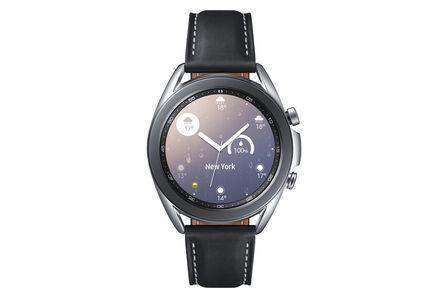 SAMSUNG - Samsung Galaxy Watch 3 SS 41mm Silver + JBL TWS T120 White In-Ear Earphones