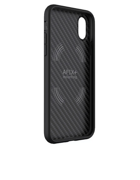 EVUTEC - Evutec AER Karbon With Afix Case Black For iPhone X