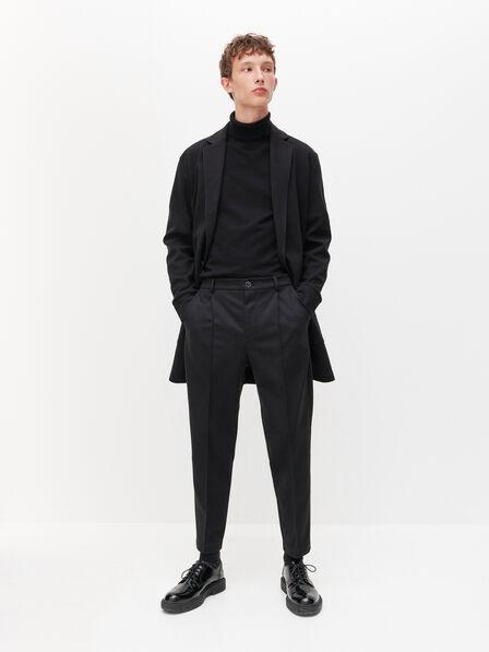 Reserved - Men's Slim Carrot Trousers - Black