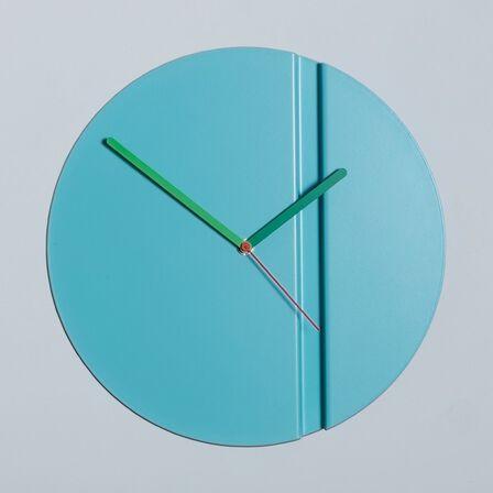 BLOCK - Block Origami Wall Clock Pleat Fold Blue