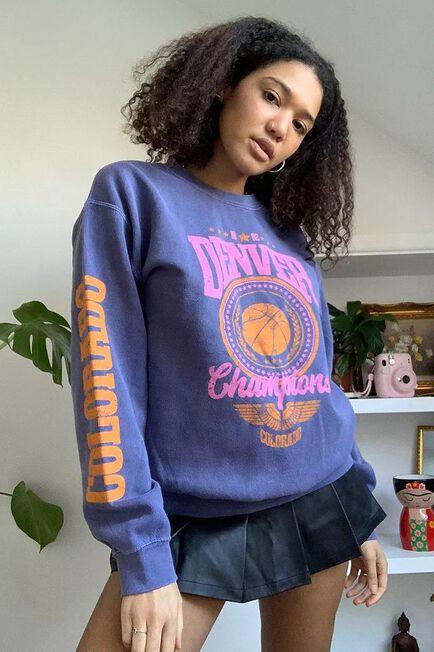 Urban Outfitters - Purple UO Denver Champions Sweatshirt
