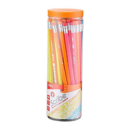 DELI - Deli Graphite Pencil HB with Eraser [50 Pack]
