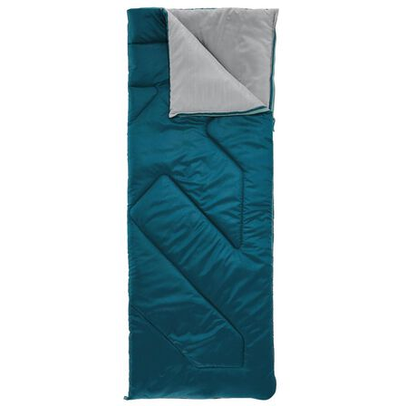 QUECHUA - 10° Camping Sleeping Bag - Arpenaz - Dark Petrol Blue