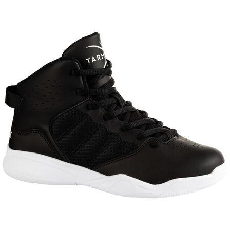 TARMAK - EU 32  Boys'/Girls' Beginner Basketball Shoes SS100 - Black, Black