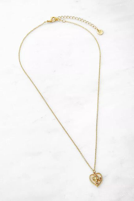 Urban Outfitters - Gold Cherub Heart Pendant Necklace