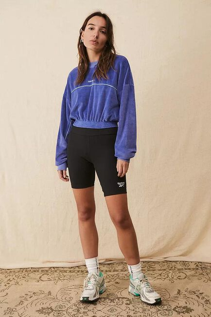 Urban Outfitters - Blue Iets Frans'.. Velour Cropped Sweatshirt