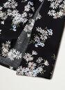 Mango - Black Flowy Printed Dress, Women