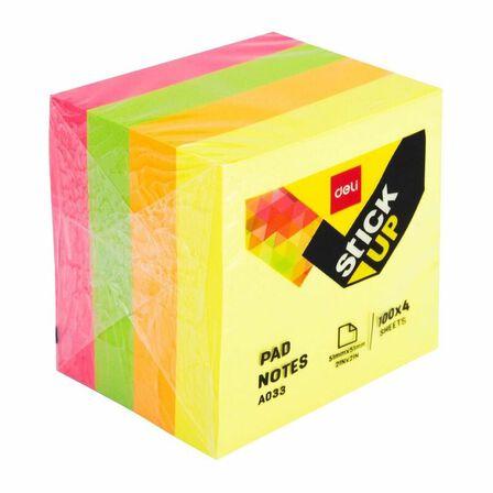 INFO - Deli Pad Notes 51mmx51mm 2X2 4X100 Sheets