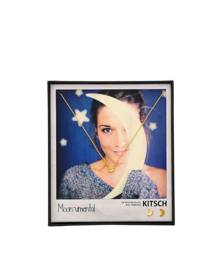 KITSCH - Kitsch Moon-Umental Gold Necklace & Earring Set