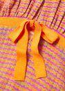 Mango - Orange Combined Knitted Dress With Slit, Women