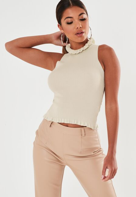 Missguided - FRILL NECK AND HEM KN