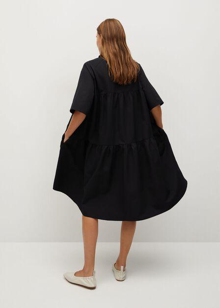 Mango - Black Oversize shirt dress