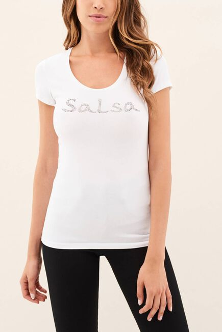 Salsa Jeans - White Salsa branding t-shirt