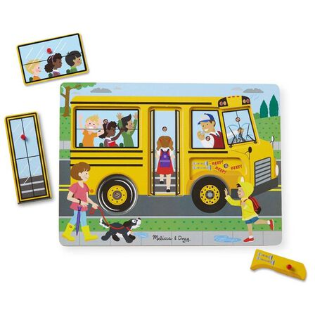 MELISSA & DOUG - Melissa & Doug The Wheels On The Bus Sound Puzzle